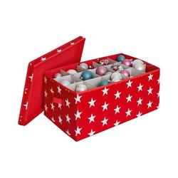 STORE IT! Aufbewahrungsbox Weihnachtskugel Box, rot rot