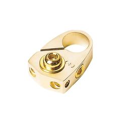 Batterieklemme Minuspol gold mit Batterieschutz 2 x 10 mm