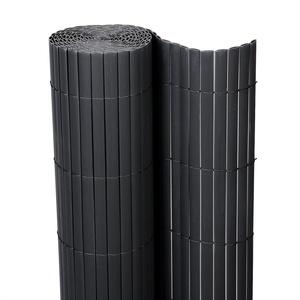 Lestarain PVC Sichtschutzzaun Sichtschutzmatte Gartenzaun Sichtschutz Windschutz für Balkon &Terrasse,Grau 500 * 100cm
