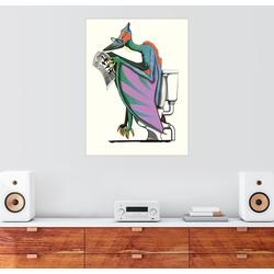 Posterlounge Wandbild, Pterodactyl Dinosaurier Toilette 100 cm x 130 cm