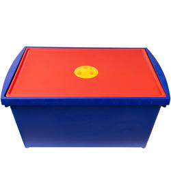 ONDIS24 Aufbewahrungsbox Aufbewahrungsbox mit Deckel, Spielzeugkiste 28 L, Stapelbox System Box M, Malkiste hoch, Spielzeugbox für Kinder