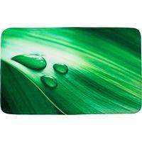 Sanilo Badematte Green Leaf Höhe 15 mm, schnell trocknend, Memory Schaum rechteckig - 50 cm x 80 cm x 15 mm