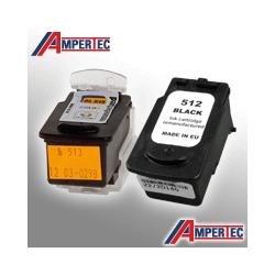 2 Ampertec Tinten für Canon PG-512+CL-513  4-farbig / doppelte Füllmenge