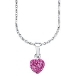 Amor Kette mit Anhänger Herz, 9293544, mit Kristallglassteinen