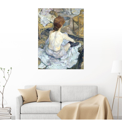 Posterlounge Wandbild, Die Rothaarige 60 cm x 80 cm