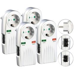 4er-Set 6in1-Überspannungsschutz für TV, HiFi, LAN & Telefon
