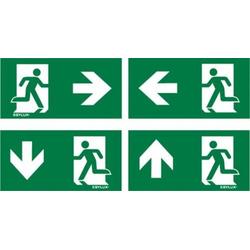 ESYLUX EN10077500 Piktogramm Notausgang links, Notausgang rechts, Notausgang oben, Notausgang unten