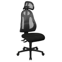 Topstar Free Art mit Kopfstütze Bürostuhl grau