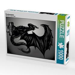Drachenstatue Lege-Größe 48 x 64 cm Foto-Puzzle Bild von Pezi Creation Puzzle