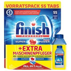4 x Finish All in 1 Plus Vorratspack je 55 Spülmaschinentabs + Maschinenpfleger