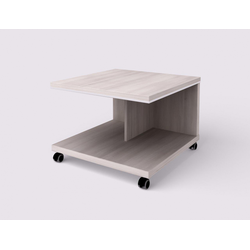 Konferenztisch wels - mobil, 700 x 700 x 500 mm, robinie hell