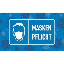 Mercury Fußmatte Maskenpflicht blau 90,0 x 150,0 cm