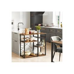 VASAGLE Küchenregal KKS90X, Standregal, Mikrowellenregan, vintage