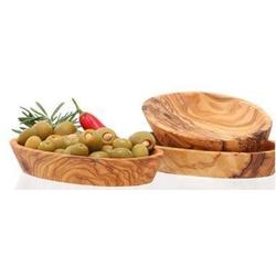 Olivenholz-erleben Dipschale, Holz, (Set, 3-tlg), Olivenholz