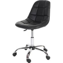 Drehstuhl MCW-A86, Bürostuhl Arbeitshocker, Schalensitz Kunstleder ~ schwarz