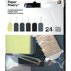 Papieranhänger Gross Grün Mix FSC Mix