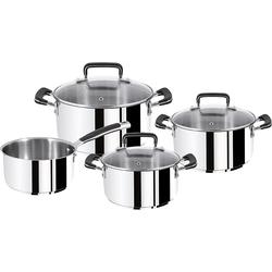 Tefal Gourmet Series Topf-Set, Pfanne, Silber