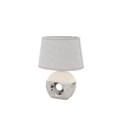 Dekohelden24 Tischleuchte Edle Designer Tischlampe / Nachttischlampe, rund