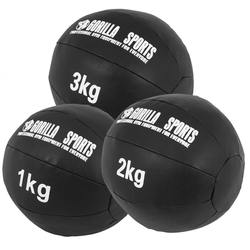 Medizinball Set aus Leder 6 kg