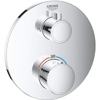 GROHE Grohtherm Thermostat-Brausebatterie mit 2-Wege-Umstellung rund chrom
