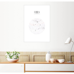 Posterlounge Wandbild, LIBRA, WAAGE 100 cm x 130 cm