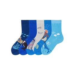 Arizona Socken (5-Paar) mit Meeresmotiven 23-26