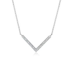 Elli Collierkettchen V-Kette Kristalle 925 Silber weiß