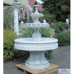 S207027 Gartenbrunnen Kaskadenbrunnen mit Brunnenbecken und Brunnensockel Standfuss aus Beton Steinguss157cm 471kg