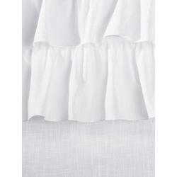 Raffrollo mit Volants weiß ca. 150/60 cm
