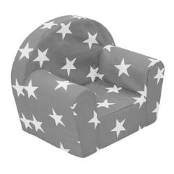 dynamic24 Sessel, Kindersessel Sterne grau Kinderzimmer Möbel Kinder Sitzgelegenheit Loungesessel