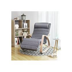 SONGMICS Sessel LYY11G, Schaukelstuhl, Schwingstuhl, grau
