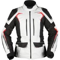 Modeka Elaya Damen Motorrad Textiljacke Hellgrau/Schwarz 40