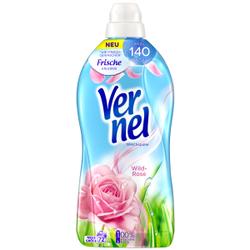 Vernel Wild-Rose Weichspüler , Konzentrat mit natürlichen Rosen-Essenzen, 1,8 Liter - Flasche