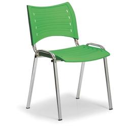 Kunststoffstuhl smart, chromfüße, grün