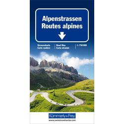 Alpenstrassen Strassenkarte 1 : 750 000