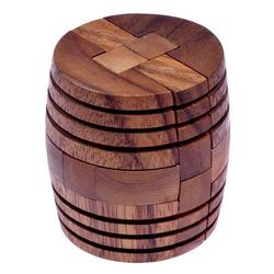 Logoplay Holzspiele Spiel, Barrel - Fass - 3D Puzzle - Denkspiel - Knobelspiel - Geduldspiel - Logikspiel aus Holz Holzspielzeug