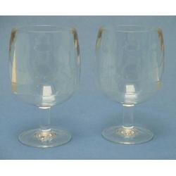Weinglas-2er-Set stapelbar hoch 25cl Acryl