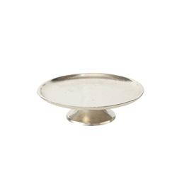 Boltze Deko-Teller Flaire in silber, 19 cm