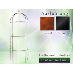 Halbrund Obelisk Kletterhilfe Rankhilfe Metall H - 1,65 m oder 2,00 m