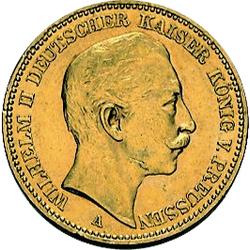 7,17 g Gold 20 Mark Deutsches Kaiserreich diverse Jahrgänge