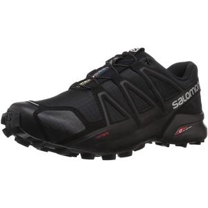 SALOMON Herren Speedcross 4 Traillaufschuhe, Schwarz (Black/Black/Black METALLIC), 44 2/3 EU