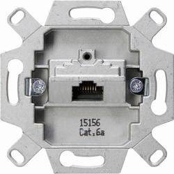 Kopp 1 Stück Einsatz Netzwerkdose, UAE-/IAE-/ISDN-Steckdose Aluminium 114401007