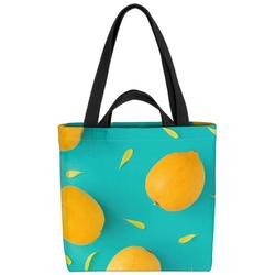VOID Henkeltasche (1-tlg), Zitronenmuster Früchte Frucht Essen Kochen Küche Obst Gesund Sauer Gelb