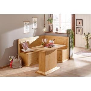 Home affaire Essgruppe Sara, bestehend aus Eckbank und Tisch natur