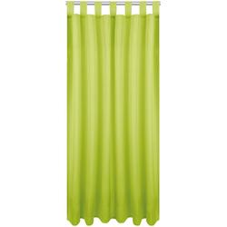 Vorhang, Bestlivings, Schlaufen (1 Stück), Blickdichte Gardine Fertiggardine mit Schlaufen, Schlaufenschal in versch. Größen und Farben verfügbar grün 140 cm x 175 cm