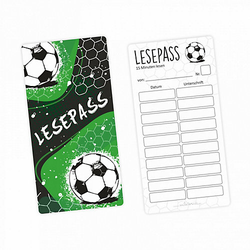 Lesepass Fußball Lesezeichen zum lesen üben Grundschule 10-100 Stück Lesezeichen bunt