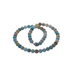 Bella Carina Perlenkette Amazonit matt, mit Amazonit matt 45