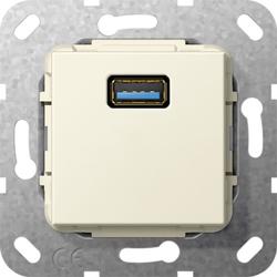 Gira 568301, USB 3.0 A K-Peitsche Einsatz Cremeweiß