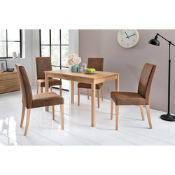 Home affaire Essgruppe Lea, (Set, 5-tlg) braun
