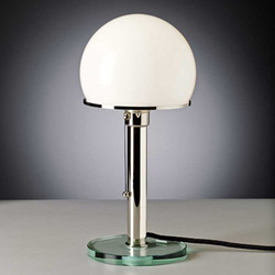 Tecnolumen Bauhaus-Tischlampe WG25GL Wilhelm Wagenfeld Metall